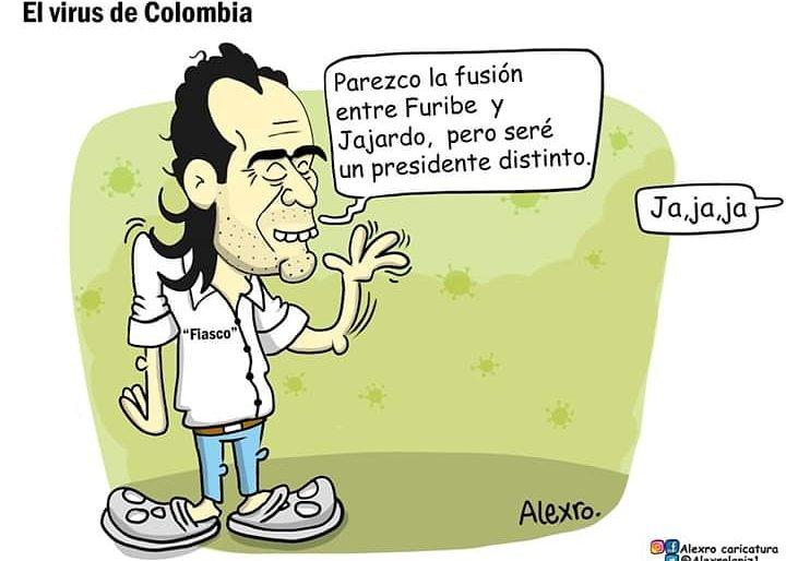 Caricatura: El virus de Colombia
