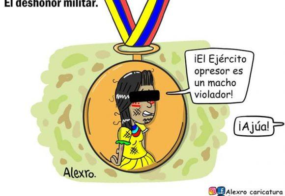 Caricatura: El deshonor militar