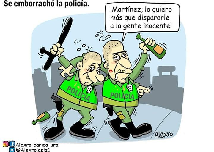Caricatura: Se emborrachó la policía