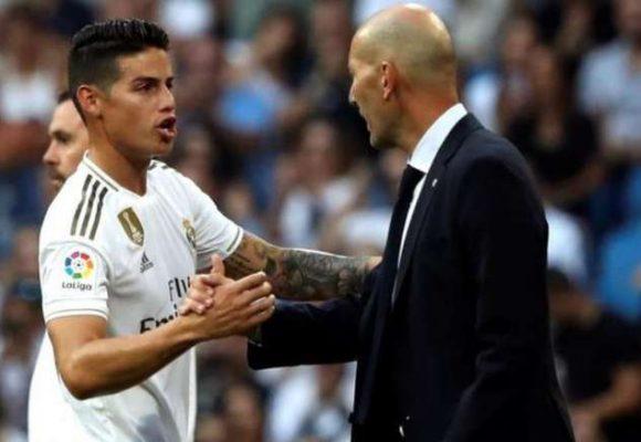 El dardo de James a Zidane