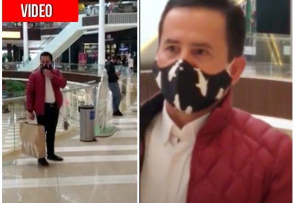 Ex alcalde de Chía se liberó de la cárcel y se fue de compras al centro comercial