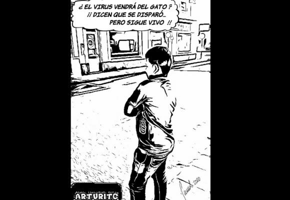 Caricatura: El suicidio del coronavirus