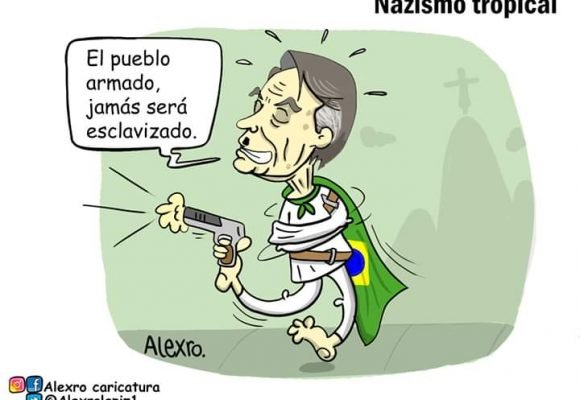 Caricatura: Bolsonaro... Nazismo tropical