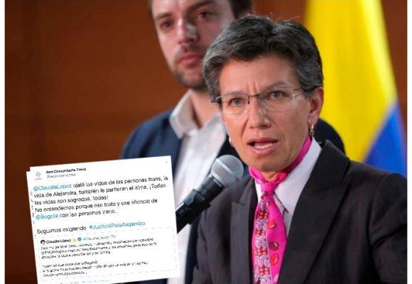 La hipocresía de Claudia López con las muertes en Bogotá