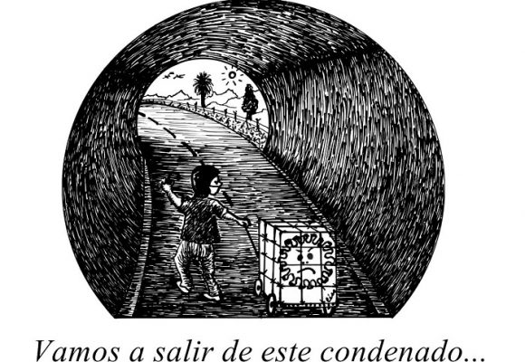 Caricatura: ¡Hay luz al final del túnel!