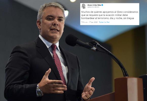 """¿Cumplirá Duque el deseo de Uribe de """"bombardear al terrorismo, día y noche, sin tregua"""