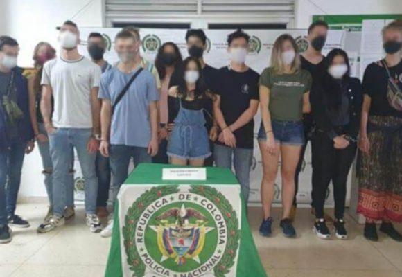 10 extranjeros pillados en fiesta clandestina en Medellín