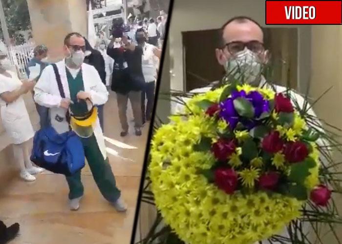 El apoyo de sus compañeros al médico que amenazaron de muerte. VIDEO
