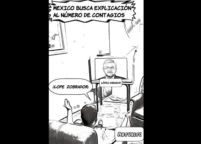 Caricatura: AMLO y la COVID-19