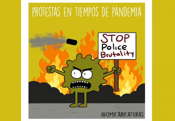 Caricatura: Protestas en tiempos de cuarentena