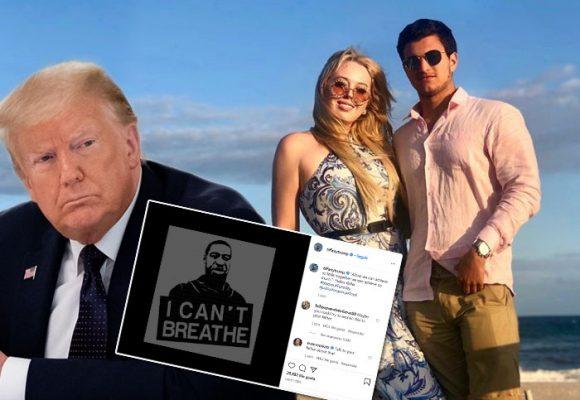 Trump y su hija Tiffany a la que no logra mandar
