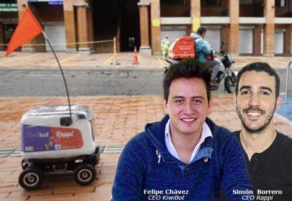 El robot de Rappi y su aliado KiwiBot  en Medellín