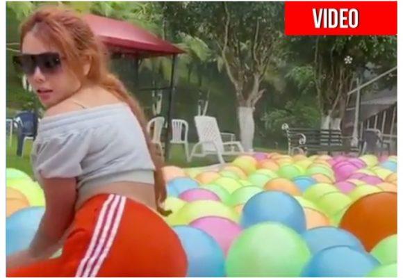 El guayabo de Yina Calderón después de su fiesta
