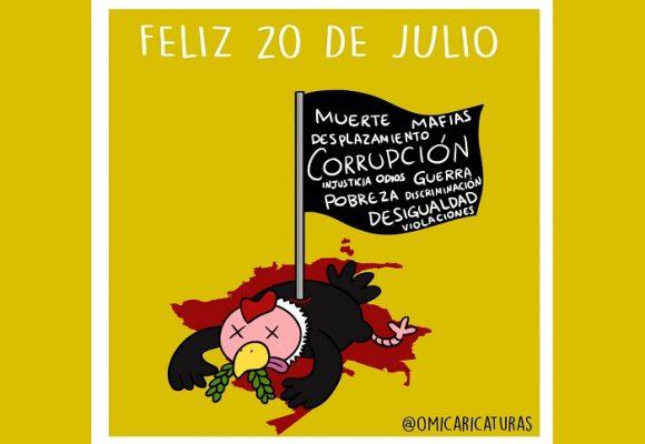 Caricatura: ¿Feliz veinte de julio?