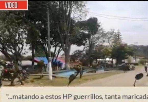VIDEO: La grosería del ejército con los campesinos del Cauca