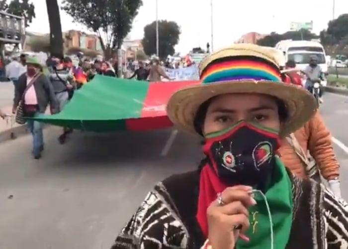 Desde el Cauca llegan caminando en protesta lideres sociales a Bogotá