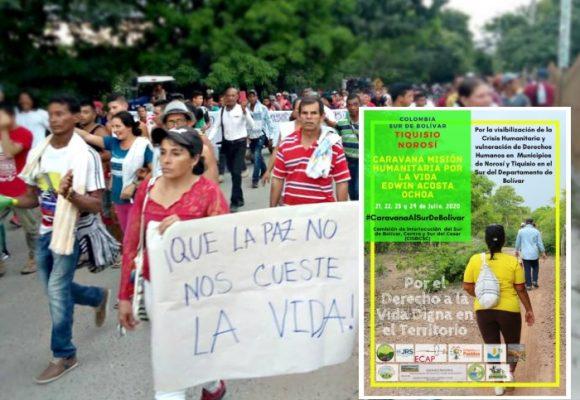 Con caravana, lideres del sur de Bolivar saldrán a hacerse escuchar en plena pandemia