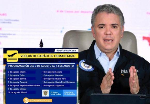Estos son los nuevos vuelos humanitarios aprobados por Duque