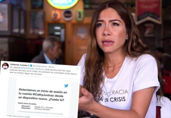 ¿Hackean la cuenta de Twitter de Catherine Juvinao?