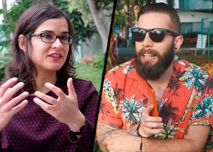 La peinada de Levy Rincón a Carolina Sanín