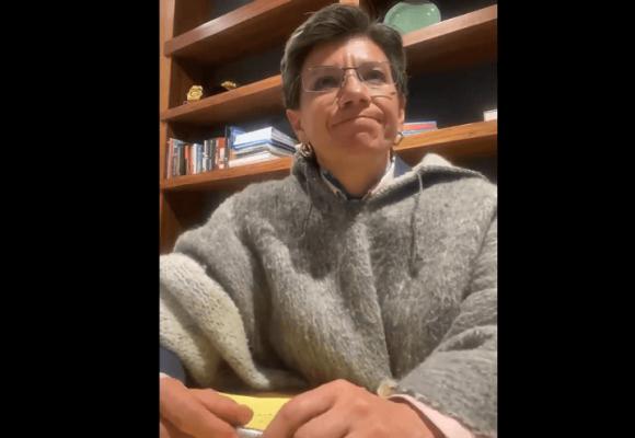 Claudia se quiebra por las muertes en Bogotá: