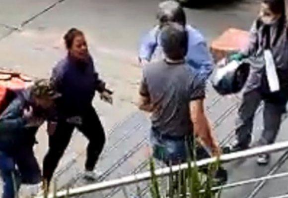 Domiciliario de Rappi, borrachos, agarraron a piedra edificio en Bogotá