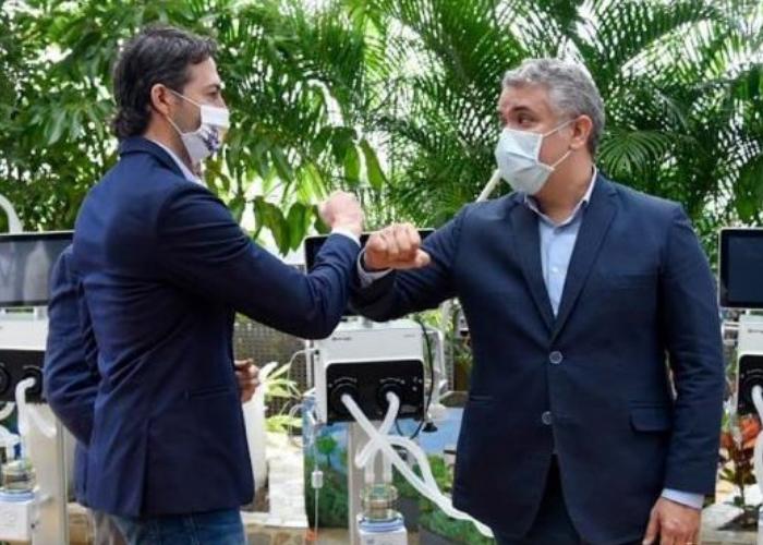 El incómodo momento del alcalde de Medellín con Duque