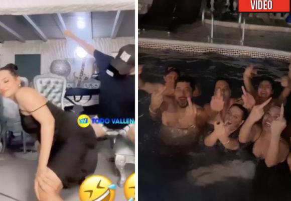 Strippers, piscina y trago: así se guarda del Coronavirs Andrea Valdiri