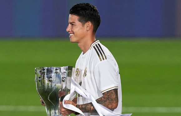 80 millones por minuto se ganó James en el Real Madrid