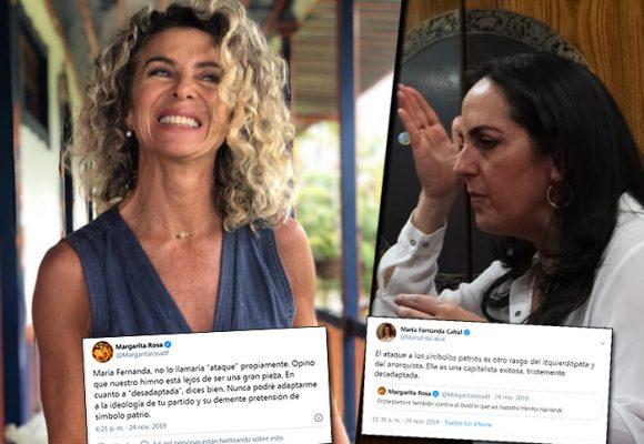 La diva rebelde que odia los uribistas con María Fernanda Cabal a la cabeza