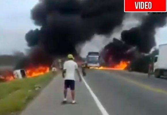 Impactante: se conoce video del momento en que estalló camión cisterna