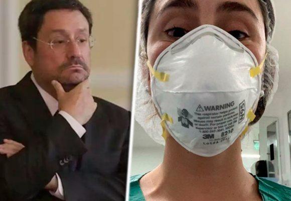 Carmen, la hija médica de Pacho Santos, en primera línea