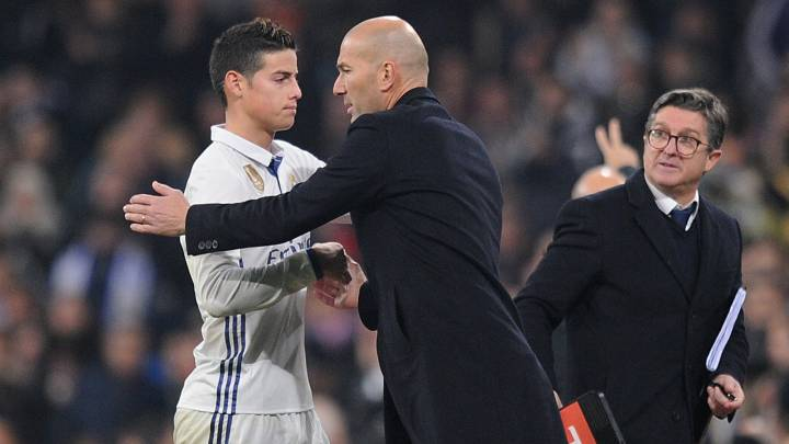 Arrancó la venganza de Zidane con James