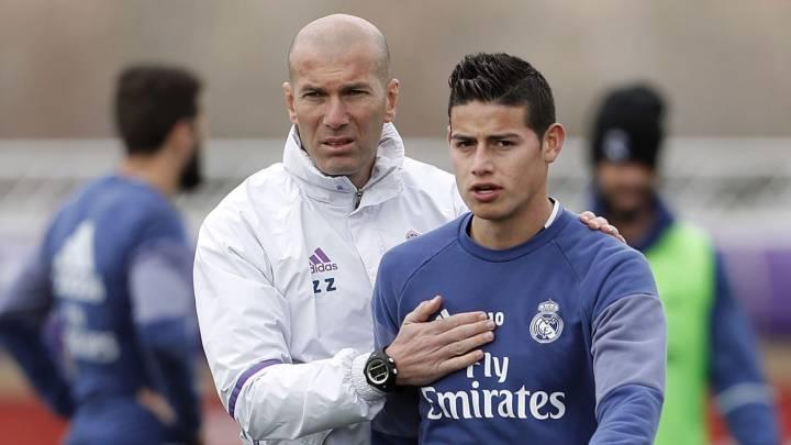 No lo puede ver ni en pintura: el desprecio de James a Zidane. VIDEO