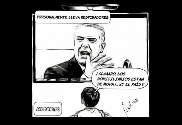 Caricatura: ¿Se sumó Duque a la tendencia de ser domiciliario?