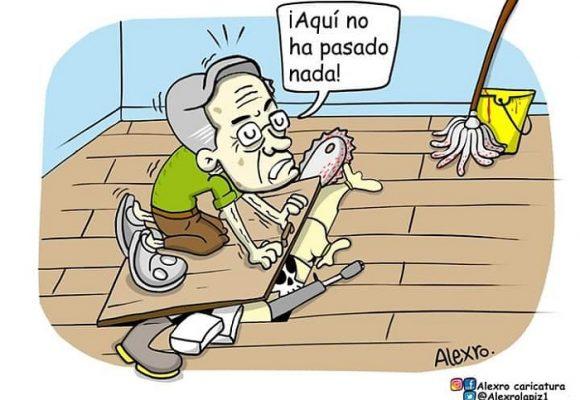Caricatura: Un allanamiento anunciado
