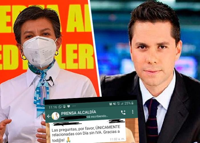 ¿Claudia López veta temas en su rueda de prensa?