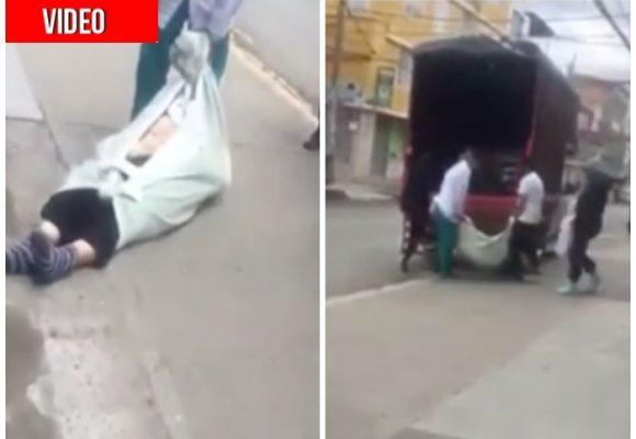 En camión pasean cuerpo sospechoso de COVID-19 por Bosa