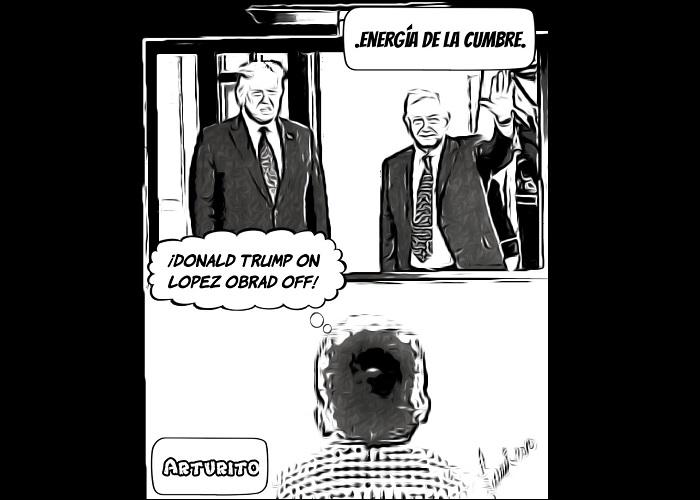 Caricatura: La cumbre presidencial de Trump y López Obrador