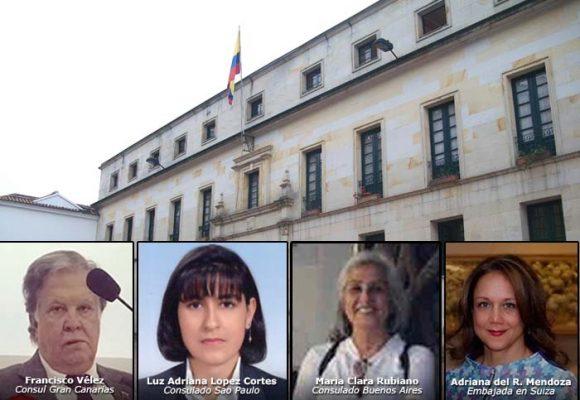 Embarradas de cuatro diplomáticos colombianos en plena pandemia