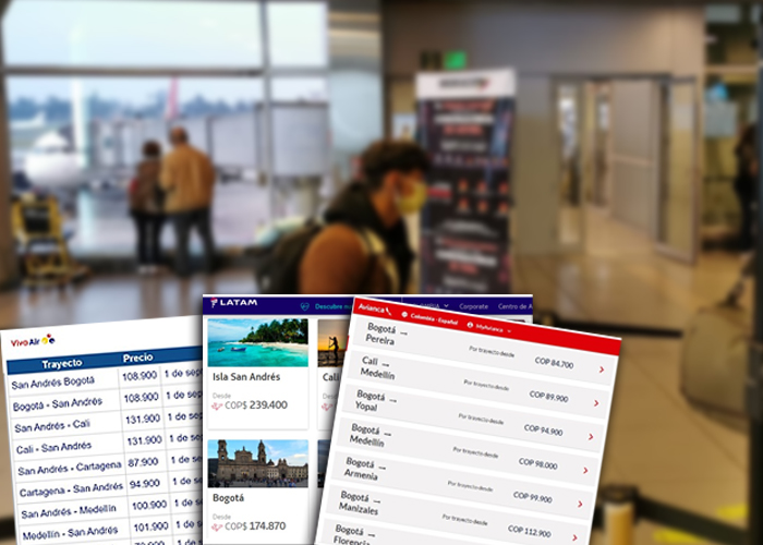 Empieza la rebatiña de las aerolíneas para ganar pasajeros en Colombia