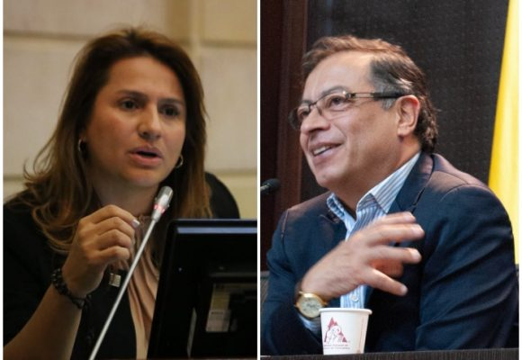 Peinada de Petro a la senadora Paola Holguín