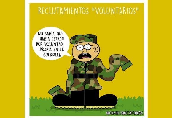 Caricatura: Sigue la evasión de las Farc...