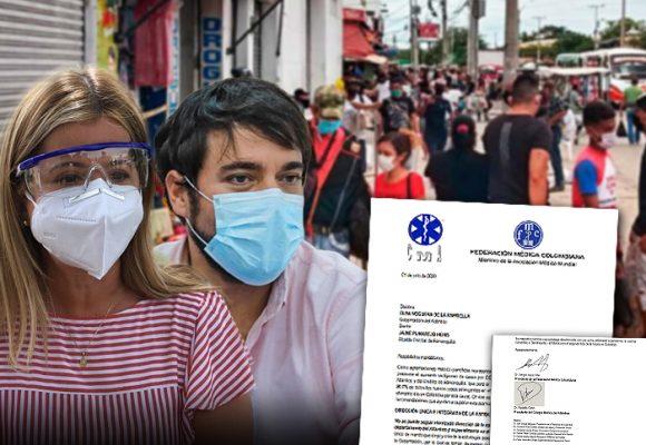 Gobernadora del Atlántico y alcalde de Barranquilla, confrontados por los médicos
