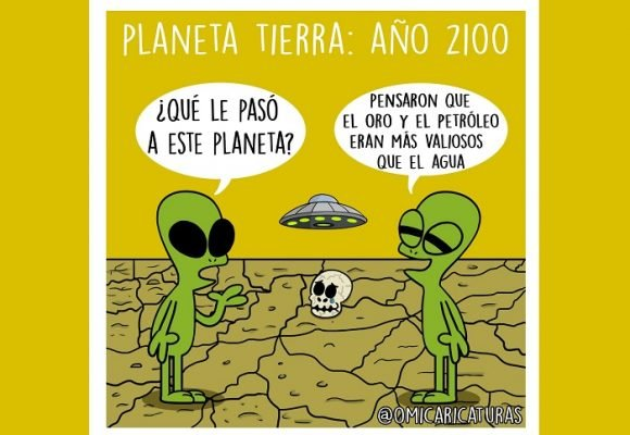 Caricatura: ¿Qué quedará de la Tierra en el 2100?