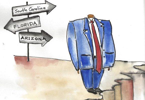 Caricatura: Trump busca nueva sede para la convención repúblicana