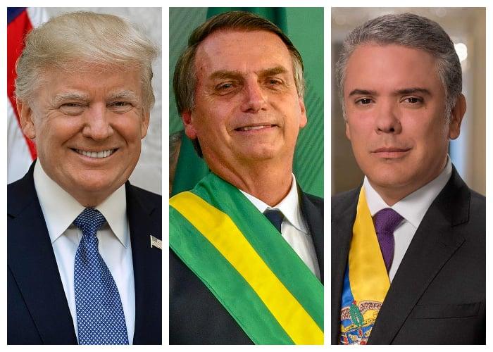 Estados Unidos, Brasil y Colombia en la internacional de ultraderecha