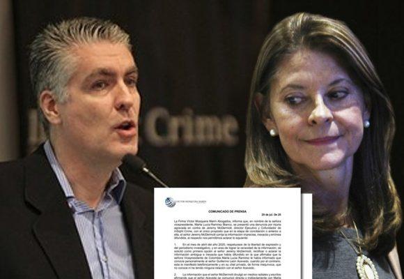 Marta Lucía Ramírez cede ante presión: retira demanda penal contra periodista McDermott