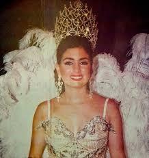 Katia Nule en 1995 cuando fue reina del Carnaval