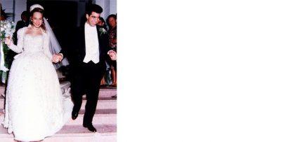 Arturo y Alessandra recién casados el 27 de marzo de 1993.